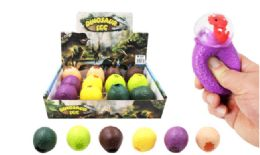 72 Units of Dinosaur Egg Squish Ball - Slime & Squishees