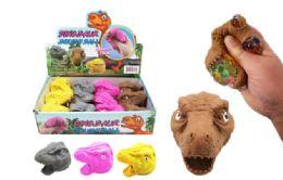72 Units of Dinosaur Head Squish Ball - Slime & Squishees