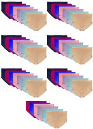 36 Bulk Women's Fruit Of Loom Brief Underwear, Size 1XL