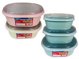 48 Units of 3 Pcs Oval Container - Food Storage Containers