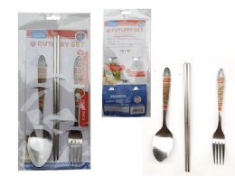 144 Units of Cutlery Set 4pc - Disposable Cutlery