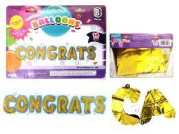 144 Wholesale Congrats Letter Balloons