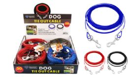 12 Units of Dog Tie Out Cable - Pet Toys