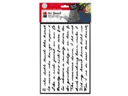 75 Units of Marabu 9x12 Art Stencil in Script Pattern - School Supplies
