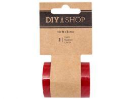 180 Units of DIY Shop Red Stripe Transparent Tape - Tape & Tape Dispensers