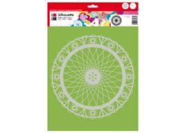 120 Units of Marabu 13x13 Art Stencil in Wheel of Flower Pattern - School Supplies