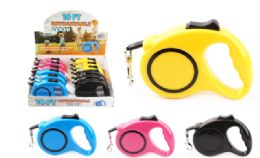 24 Units of Retractable Dog Leash 10 Inch - Pet Collars and Leashes