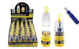 30 Units of Mini Screwdriver Set 14 Piece - Screwdrivers and Sets