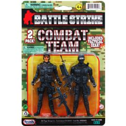 """48 of 2PC 4.25"""" ARMY MEN ON DOUBLE BLISTER CARD"""