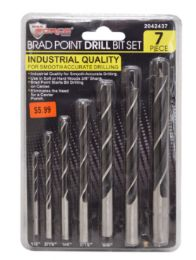 24 Units of Brad Point Drill Bit 14 Piece - Screwdrivers and Sets