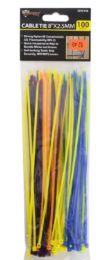 48 Units of Cable Ties Colorful 100 Piece 8 Inch - Cable wire