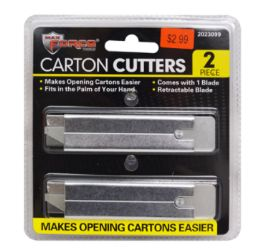 48 Units of Carton Cutters 2 Piece - Box Cutters and Blades
