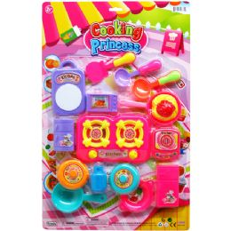 12 Units of 16PC COOKING PRINCESS PLAY SET ON BLISTER CARD - Girls Toys