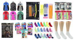 "288 Units of Middle School Back-to-School Bundle - 288 Items - 17"" Bungee Backpacks, Supply Kits, Underwear, & Socks! - Backpacks 17"""