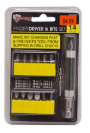 24 Units of Finder Driver And Bit Set 14 Piece - Screwdrivers and Sets