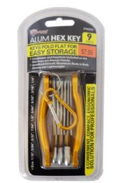 18 of Folding Hex Key Set With Carabiner 9 Piece
