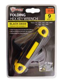24 of Folding Hex Key Wrench 9 Piece