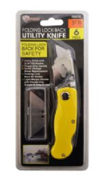 18 Units of Folding Utility Knife With Blades - Box Cutters and Blades