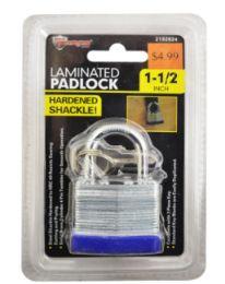 24 Units of Laminated Padlock 1.5 Inch - Padlocks and Combination Locks