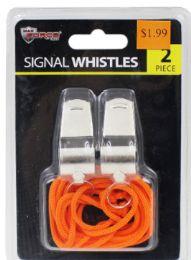 48 Units of Lanyard Whistles 2 Pack - Novelty Toys