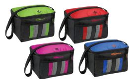 24 Units of Insulated Cooler Bags w/ Front Mesh Pocket - Assorted Styles - Lunch Bags & Accessories