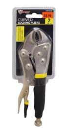 18 of Locking Pliers With Rubber Grip Curved Jaw 7 Inch
