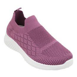 12 Units of Women's Fashion Sneakers In Lilac - Women's Sneakers