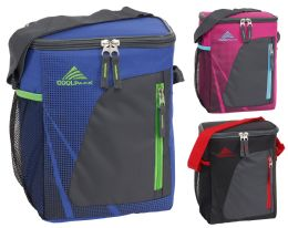 24 Units of 12-Can Insulated Coolers w/ Mesh Pocket - Assorted Colors - Lunch Bags & Accessories