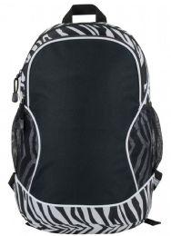 """24 Units of 11-1/2"""" Backpacks - Zebra Print - Backpacks 17"""""""