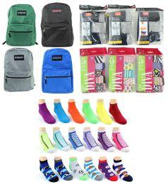 "216 Bulk Toddler Back-to-School Bundle - 216 Items - 15"" Classic Backpacks, Underwear, & Graphic Socks!"