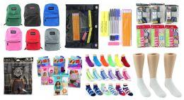 "288 Bulk Middle School Back-to-School Bundle - 288 Items - 17"" Classic Backpacks, Supply Kits, Underwear, & Socks!"