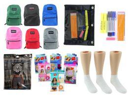 "288 Bulk High School Back-to-School Bundle - 288 Items - 17"" Classic Backpacks, Supply Kits, Underwear, & Athletic Ankle Socks!"