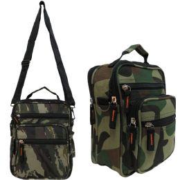 24 Units of Men & Women's Vertical Messenger Bags w/ Camo Print - Shoulder Bags & Messenger Bags