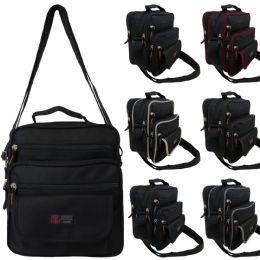 36 Units of Men & Women's Vertical Messenger Bags w/ Colorful Trim - Shoulder Bags & Messenger Bags