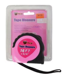24 Units of Pink Tape Measure - Tape Measures and Measuring Tools