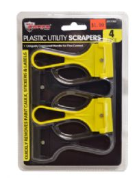 60 Units of Plastic Utility Scrapers 4 Piece - Tool Sets