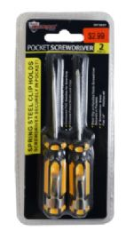 48 Units of Pocket Screwdrivers With Clips 2 Piece - Screwdrivers and Sets