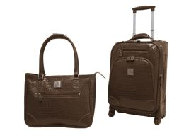 Alligator Skin 2-Piece Rolling Carry On Luggage Sets - Travel & Luggage Items