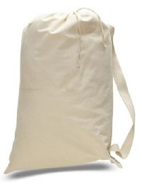 """72 Units of 18"""" Cotton Canvas Laundry Bags - Natural - Laundry  Supplies"""