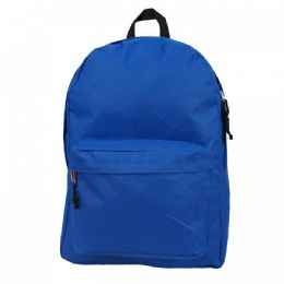 40 of 16 Inch Simple Classic Backpack Royal Blue
