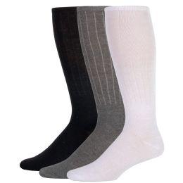 100 of Men's Tube Socks- 3 Color Assortment
