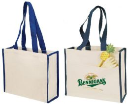 """48 Units of 14"""" Canvas Tote Bags - Tote Bags & Slings"""