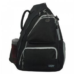 "12 Units of Heavy Duty Cross Shoulder Sling Backpack - Backpacks 16"""