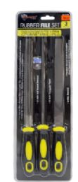 18 Units of Rubber Grip Files 3 Piece - Tool Sets