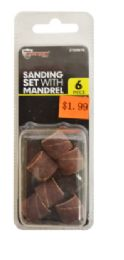 60 Units of Sanding Set With Mandrel 6 Piece - Tool Sets