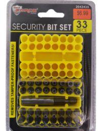 24 Units of Security Bit Set 33 Piece - Tool Sets