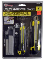 24 Units of Snap Blade Knives With Grip And Blades 2 Piece - Box Cutters and Blades