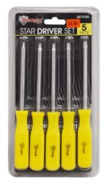 24 Units of Star Driver Set 5 Piece - Screwdrivers and Sets