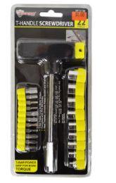 24 Units of T Handle Screwdriver And Bit Socket Set 2 Piece - Screwdrivers and Sets
