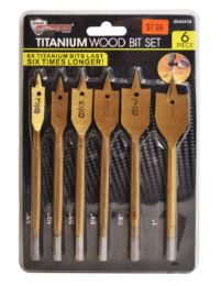 18 Units of Titanium Wood Bit Set 6 Piece - Tool Sets